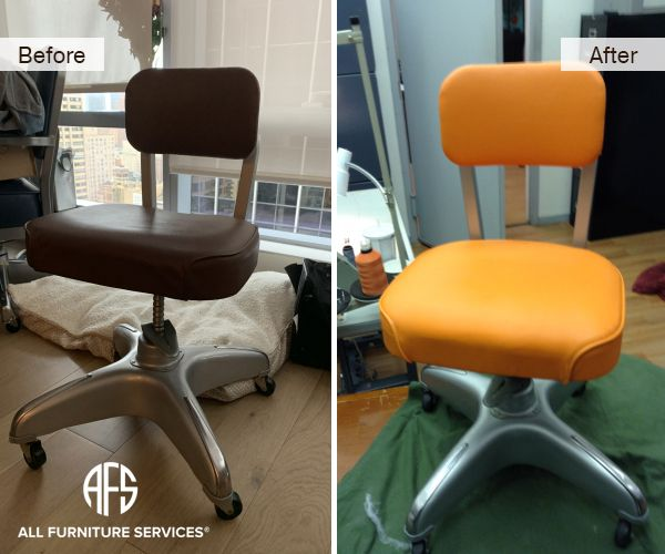 Side Office Chair Repair Re Upholstery Vinyl Leather Padding Change Chair Repair Furniture Chair