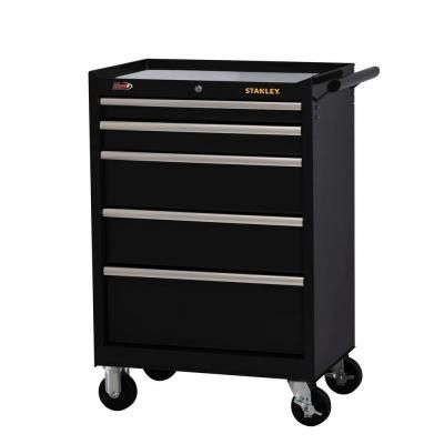 Stanley 27 in. W 5-Drawer Tool Cabinet, Black