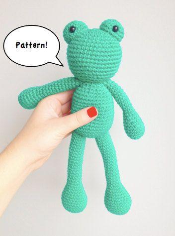 Amigurumi Frog Pattern, Crochet Frog Pattern, Frog Pattern ...