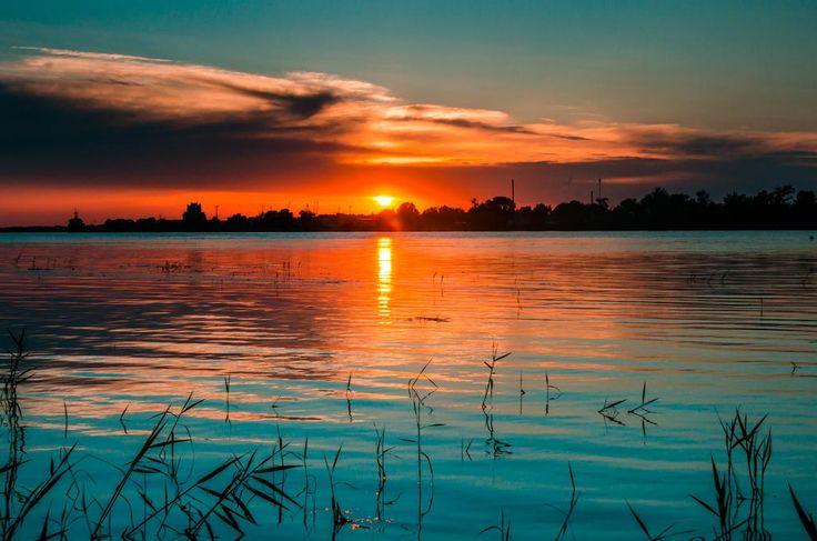 Sunset in Danube Delta