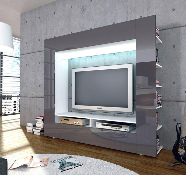 Die besten 25 tv medienwand ideen auf pinterest beamer f r tv tv wand hintergrund und tv - Medienwand tv ...