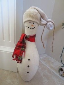 Snowman Bowling Pin Tutorial