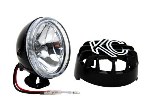 KC HiLiTES 1490 Rally 400 4 55w Single Driving Light with ABS Stone Guard >>> Details can be found by clicking on the affiliate link Amazon.com.