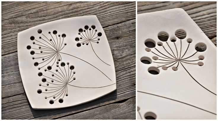 720 best images about clay projects on pinterest for Diy ceramic plates