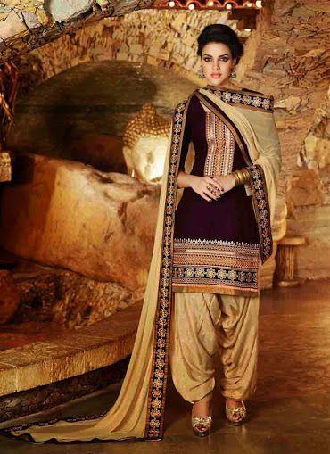 Pakistani Indian designer Tradicion Patiala Punjabi Salwar Kameez Traje