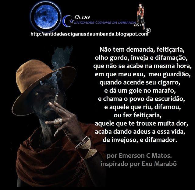 Entidades Ciganas da Umbanda (Clique Aqui) para entrar.: SABEDORIA DE EXU MARABÔ