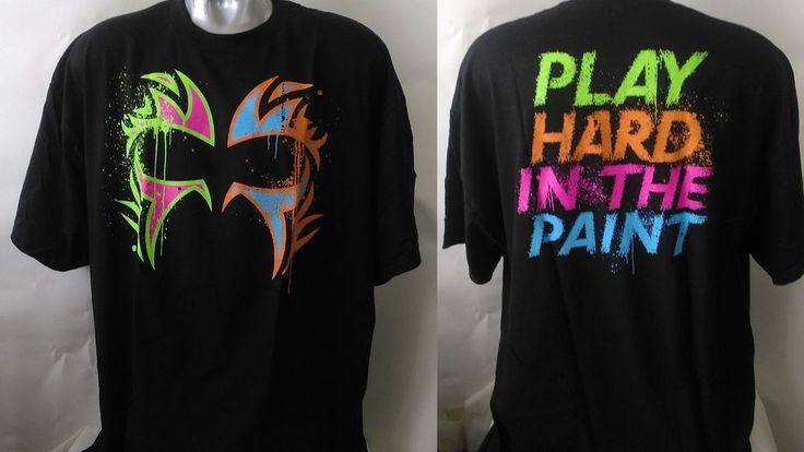 """#356 3XL XXXL T- Shirt  Official WWE The Usos """"Play Hard In The Paint"""" Top New"""