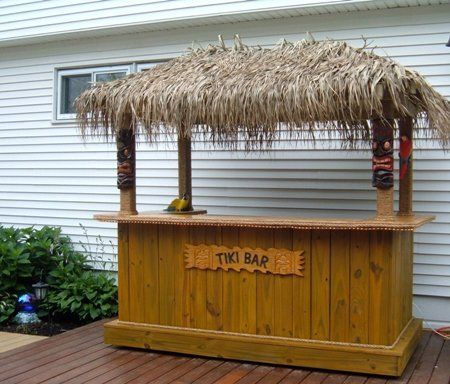 Tiki Bar - we may be able to do something to our existing movable kitchen island to turn it into a tiki bar, as needed.  That way,we're not stuck storing said tiki bar in between parties.