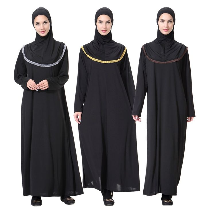 2017 New Arab jilbabs andAbayas Turkish Muslim Women Long Sleeve Hooded Dress Robe Musulmane Islamic Lady Moslim hijab Clothing