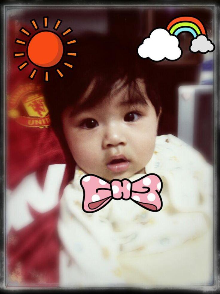 My son at Shanghai.