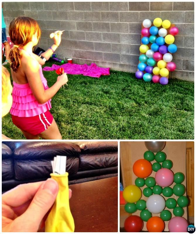 DIY Balloon Dart Board-20 DIY Summer Outdoor Games For Kids Adults