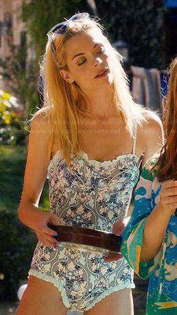 Lemon's ruffled trim swimsuit on Hart of Dixie.  Outfit Details: http://wornontv.net/44573/ #HartofDixie