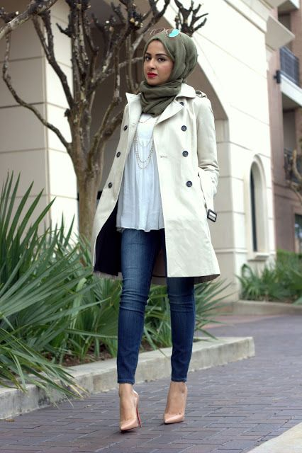 trench coat- Hijab looks by Sincerely Maryam http://www.justtrendygirls.com/hijab-looks-by-sincerely-maryam/