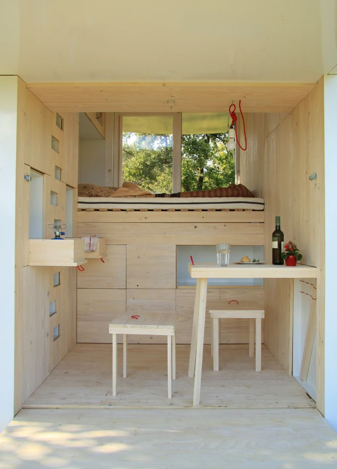 Soul Box, A Tiny Wooden Cabin For Camping | http://www.123inspiration.com/soul-box-a-tiny-wooden-cabin-for-camping/