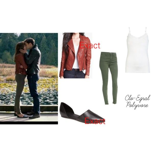 Anastasia Steele by clo-egral on Polyvore featuring moda, ONLY, Kenna-T, J Brand and Vince