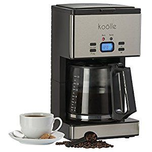 Koölle 1000w Digital Filter Coffee Maker Programmable Machine with 24 Hour Timer, Reusable Filter, Hot Plate, 15 Cup Capacity - 2 Year Warranty
