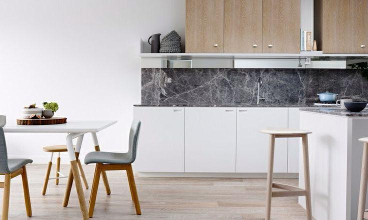 Medium to dark grey marble counters