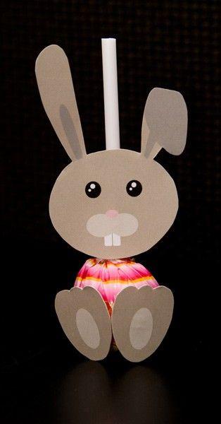 Bunny pops! maak konijnen van lolly's