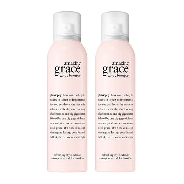 philosophy grace dry shampoo duo ($32) ❤ liked on Polyvore featuring beauty products, haircare, hair shampoo, filler, dry hair shampoo and waterless hair shampoo