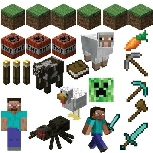 Minecraft wall stickers available from wigston signs and graphics