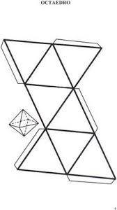 Resultado de imagen para molde de un octaedro de 10 cm