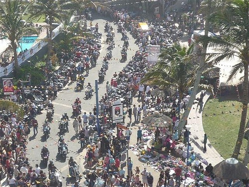 25,000 motorbikers at the annual Africa Bike Week at Margate, KZN, South Africa