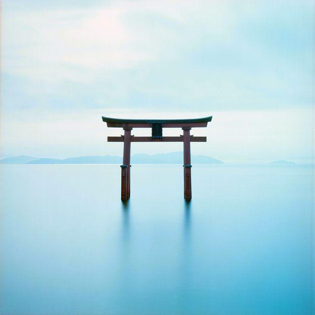 Ryōbu torii at the Shirahige shrine on Lake Biwa.
