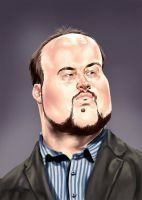Mr TB the great game critic aka Total Biscuit  #critic #gamer #pc #tb #youtube #youtuber #totalbiscuit #caricature #digitalpainting