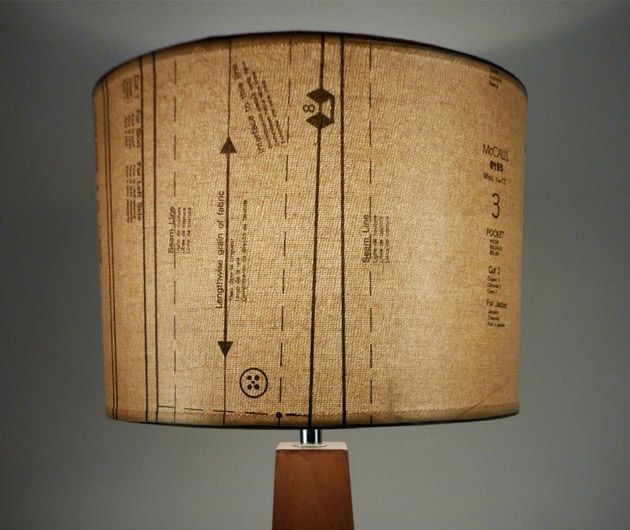 27 best lampshade porn images on pinterest light fixtures lampshade made with old dress making pattern paper aloadofball Choice Image