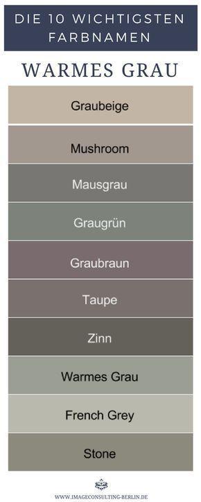 Warme Grautöne sind Graubeige, Mushroom, Mausgrau