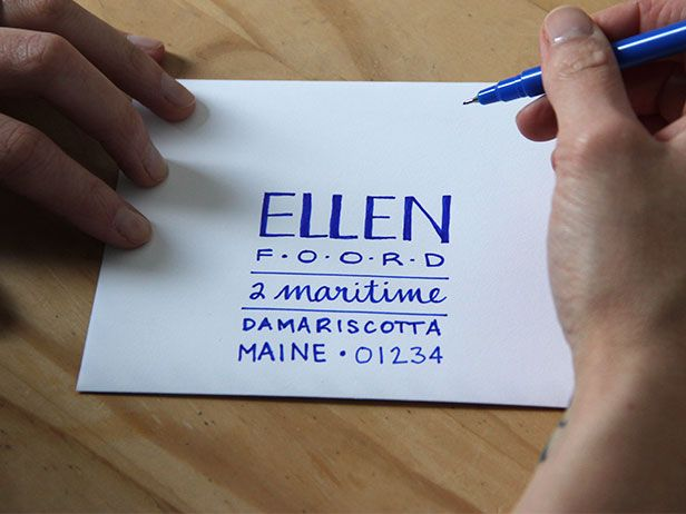 how to hand letter an envelope