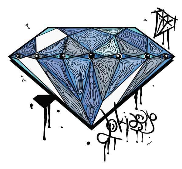 my diamond .. #diamond #graphic