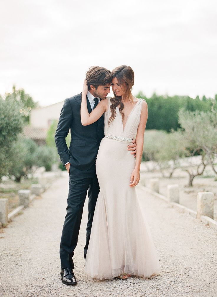 Wedding Gown by Zahavit Tshuba | More wedding #Inspiration on SMP - http://www.StyleMePretty.com/little-black-book-blog/2014/01/22/lavender-and-olive-grove-provence-wedding-inspiration/ Greg Finck Photography