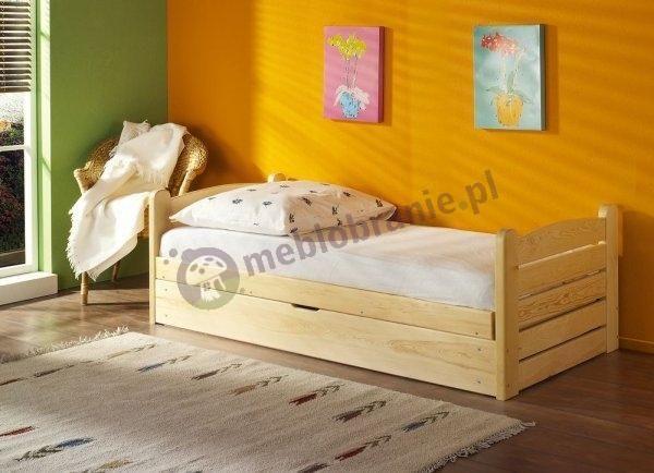 łóżka 160x200 Drewniane łóżko Białe 140x200 Z Materacem