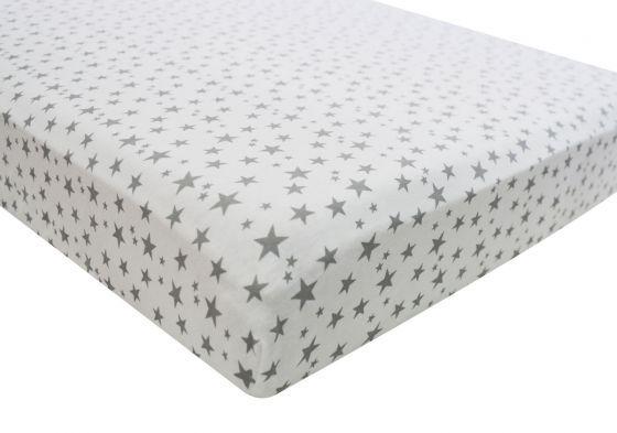 2x Crib Jersey Fitted Cradle Sheets Pram Swinging Nursery 40x90cm Midnight Grey