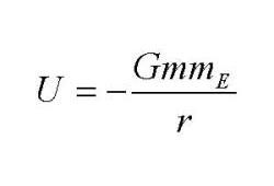 Gravitational Potential Energy: Formula for gravitational potential energy