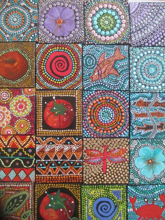 Dot kunst inheemse stijl schilderij Dot kunst Dot door LindaSpangArt
