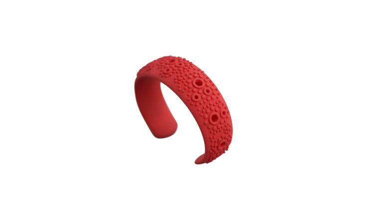 3D printed bracelet. Light red !   www.scicche.itwww