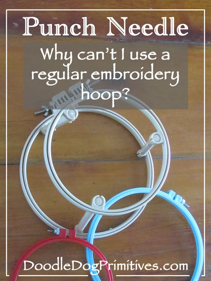 Some of you have asked me why you can't just use a regular embroidery hoop when punching. When punching, you need the fabric to be really tight, tight like the top of a drum. You can probably get the weavers cloth tight in a regular embroidery hoop, but as you start punching and pushing on …