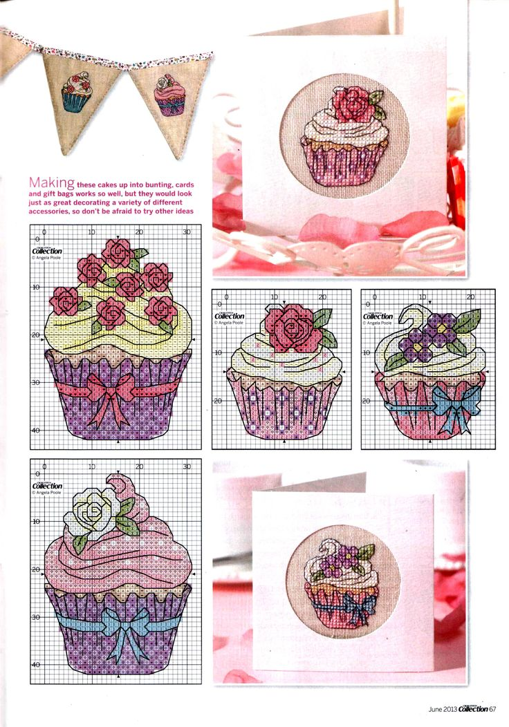 Love it Cupcakes & cross-stitch together
