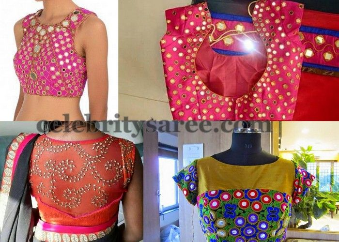 Different Style Mirror Work Blouses | Saree Blouse Patterns
