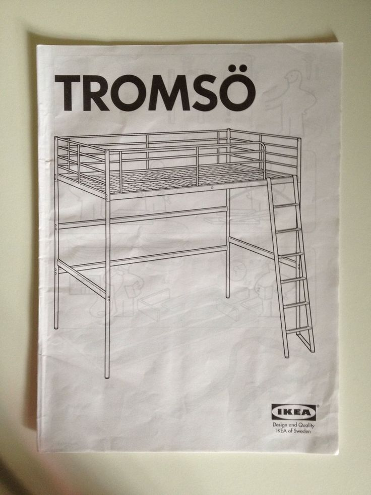 ikea tromso loft bed with desk and shelf teen room bunk ebay teens