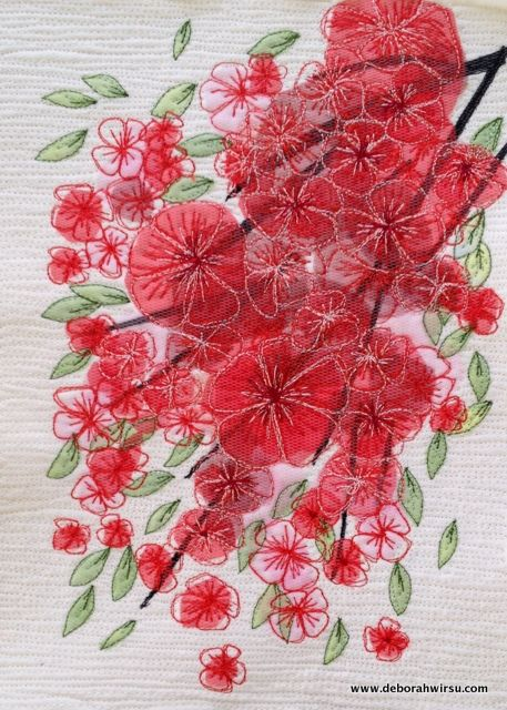 Thread Sketching in Action No 71 - Blossom - the harbinger of Spring