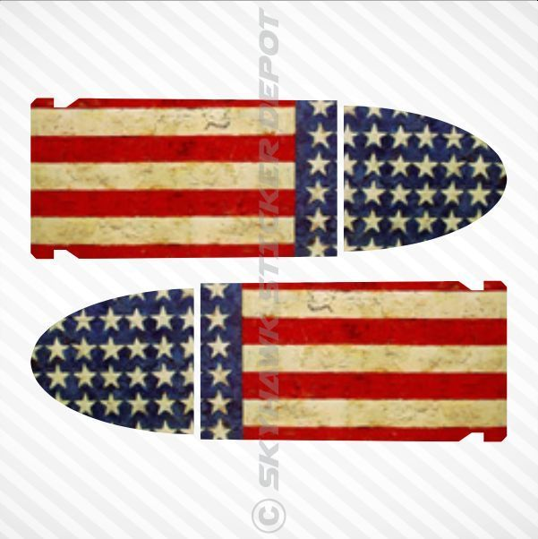 american flag auto decals