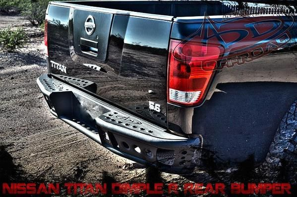 ADD 2004-2014 Nissan Titan Rear Dimple R Bumper W/Dually Light Mount BEST DEALS at BUMPERONLY.COM https://bumperonly.com/collections/add-nissan-titan-rear-bumpers/products/2004-2014-nissan-titan-rear-dimple-r-bumper?utm_content=bufferaba4e&utm_medium=social&utm_source=pinterest.com&utm_campaign=buffer