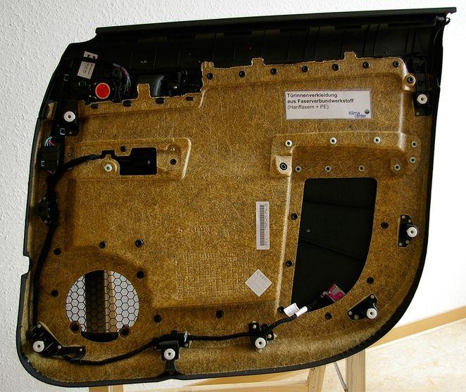 The BMW i3 interior door made from hemp plastic!