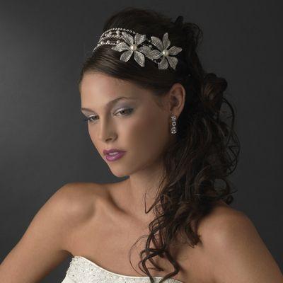 Couture Double Flower Swarovski Headband