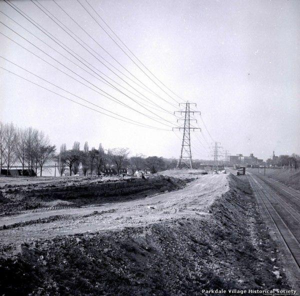 1957 looking east to St Joseph Health Center_tn