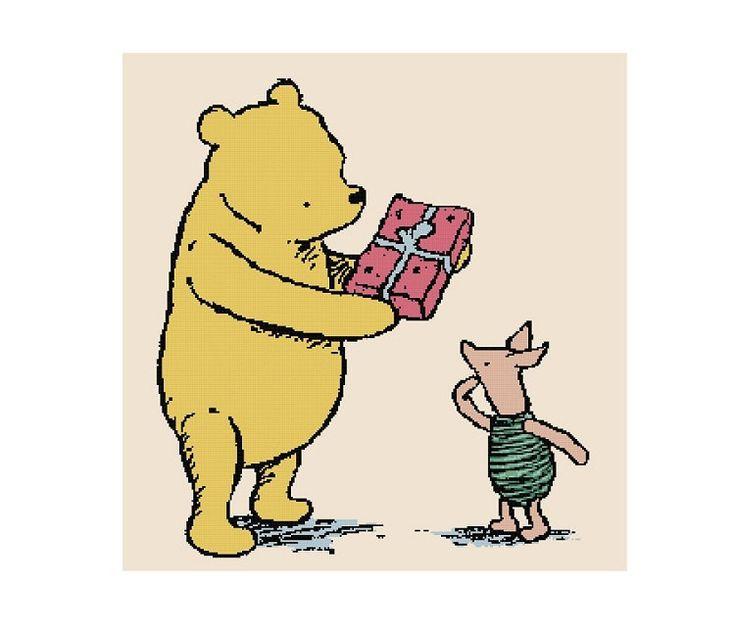 Cross Stitch Pattern PDF: Classic Pooh - Poohs Party.