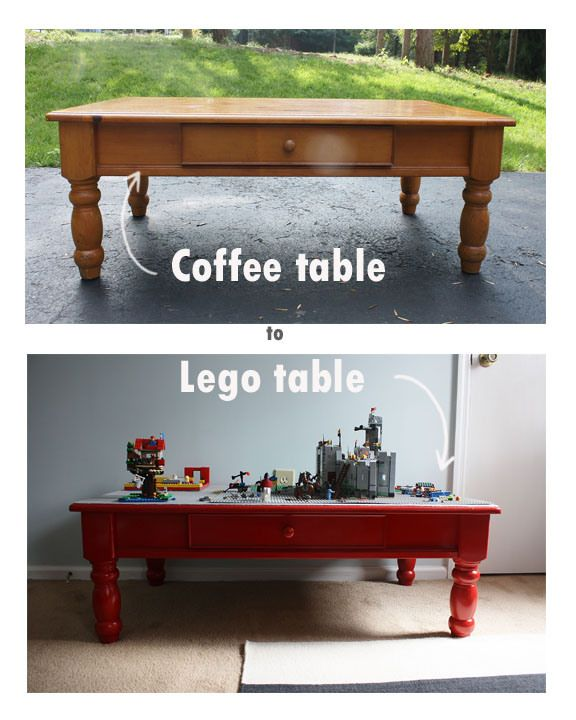 coffee table to lego table- weekend project by Sweet Paper Treats